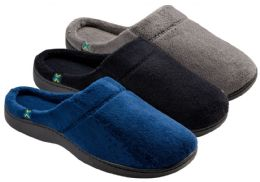 24 Units of Men's Plush Clog Slippers - Solid Colors - Men's Slippers