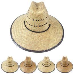 12 Units of Children's Raffia Straw Lightweight Sun Hat - Sun Hats