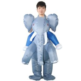 2 of Elephant Inflatable Multi Use Costume Blow Up Costume for Cosplay Party