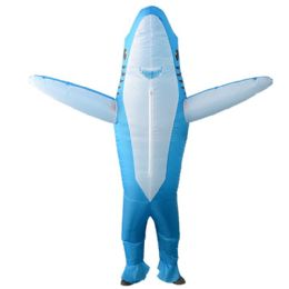 2 of Blue Shark Inflatable Multi Use Costume Blow Up for Cosplay Party