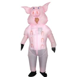 2 of Pink Pig Inflatable Multi Use Costume Blow Up Costume for Cosplay Party