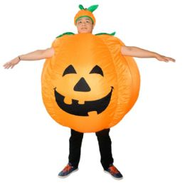 2 of Pumpkin Inflatable Multi Use Costume Blow Up Costume for Cosplay Party