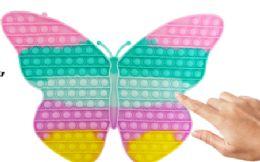 4 Bulk Bubble Pop Toys Jumbo Pastel Butterfly