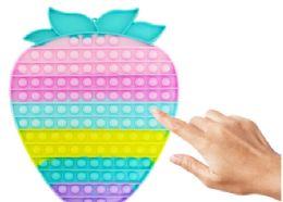 4 Units of Bubble Pop Toy Jumbo Strawberry - Fidget Spinners