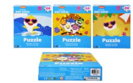48 Units of Jigsaw Puzzle 24 Piece Baby Shark - Puzzles
