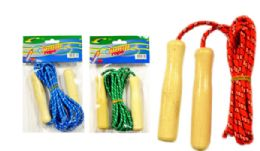 96 Units of Jump Rope With Wood Handles - Jump Ropes