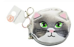 72 Units of Keychain Coin Purse Metallic Kitty - Coin Holders & Banks