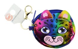 72 Units of Keychain Coin Purse Rainbow Kitty - Coin Holders & Banks
