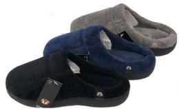36 Units of Boy's Suede Clog Slippers w/ Soft Footbed - Boys Slippers