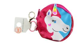 72 Units of Keychain Coin Purse Unicorn - Coin Holders & Banks