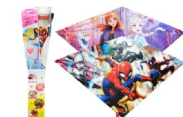 24 Units of Kite In Floor Display 42 Inch Licensed Characters - Summer Toys