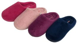 36 of Girl's Plush Clog Slippers - Solid Colors