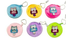 72 Units of Plush Coin Purse Owl - Coin Holders & Banks