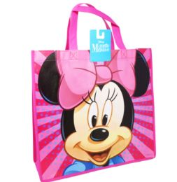 36 Bulk Reusable Large Tote Bag Minnie Mouse