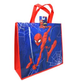 36 Bulk Reusable Large Tote Bag Spiderman