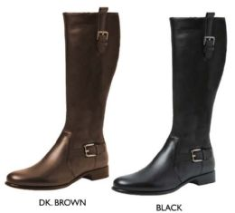 12 Units of Women's Tall Boots w/ Dual Buckles & Straps - Women's Boots