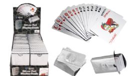 24 of Silver Foil Playing Cards