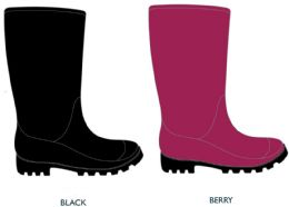 12 Units of Women's Jelly Rain Boots - Choose Your Color - Women's Boots