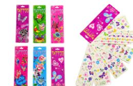 72 Units of Stick On Tattoos Butterfly Floral - Tattoos and Stickers