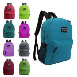 "24 Units of 17"" kids Backpacks- 9 Assorted Colors - Backpacks 17"""
