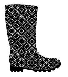 12 Units of Women's Printed Jelly Rainboots - Women's Boots