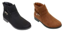 12 Units of Women's Ankle Boots w/ Side Buckle - Sizes 6-10 - Women's Boots