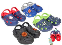 36 of Toddler Boy's Two-Tone Clogs w/ Sports Patches