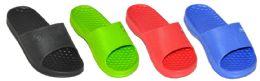 48 Units of Boy's & Girl's Slide Sandals - Assorted Colors - Sizes 12/13-4/5 - Boys Flip Flops & Sandals
