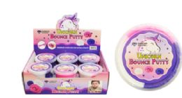48 Units of Unicorn Tri Color Bounce Putty - Slime & Squishees