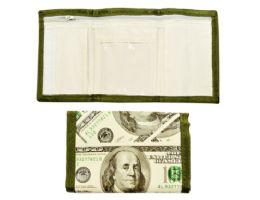 48 Wholesale Velcro Wallet 100 Bill