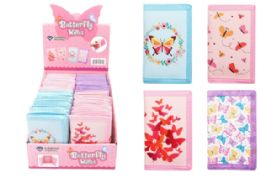 48 Wholesale Velcro Wallet Butterfly