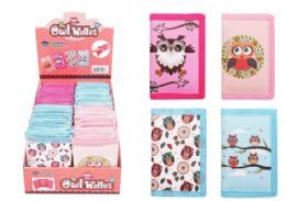 48 Wholesale Velcro Wallet Owl