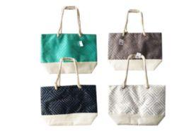 12 Bulk Canvas Tote Bag Foil Squares