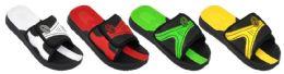 48 Units of Boy's Velcro Slide Sport Sandals w/ Futuristic Design - Boys Flip Flops & Sandals