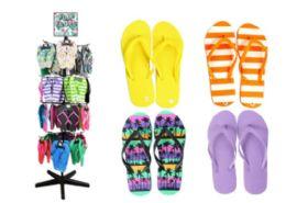 Flip Flop Rack Assorted Styles And Sizes - Women's Flip Flops