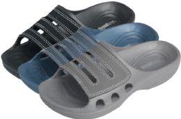 36 Units of Boy's Slide Sandals - Assorted Colors - Boys Flip Flops & Sandals