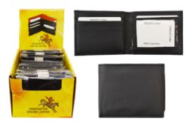 24 Units of Black Leather Genuine Leather Wallet - Leather Wallets