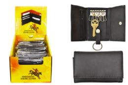 24 Units of Key Wallet Genuine Leather - Leather Wallets