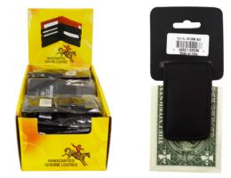 24 Units of Magnetic Money Clip Genuine Leather - Leather Wallets