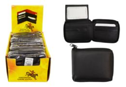 12 Units of Zipper Wallet Genuine Leather - Leather Wallets