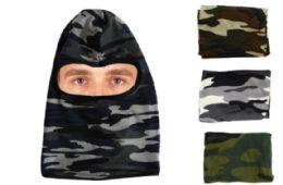 36 Units of Camo Head Mask - Unisex Ski Masks
