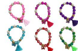 72 Wholesale Charm Bead Bracelet Butterfly