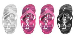 36 Units of Toddler Girl's Thong Flip Flop Sandals w/ Space Dye Footbed - Girls Flip Flops