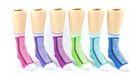 72 Units of Keds Crew Socks Sneaker Girls - Girls Crew Socks