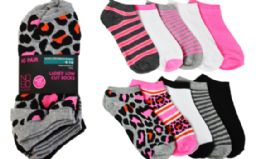 16 Units of Ladies No Show Sock 10 Pairs - Womens Ankle Sock