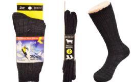 18 Bulk Mens Merino Wool Socks In Black
