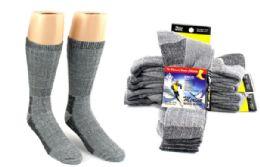 12 Bulk Mens Merino Wool Socks In Gray 2 Pairs