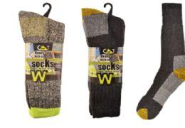 12 Units of Mens Thermal Work Sock 3 Pairs - Mens Thermal Sock