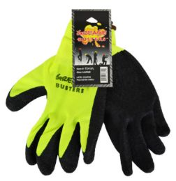 48 Wholesale Latex Work Gloves Hi Vis Yellow XLarge