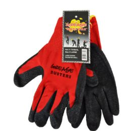 48 Wholesale Latex Work Gloves Red Size Large